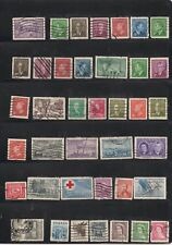 A019 Classic used canadian stamps, great starter lot