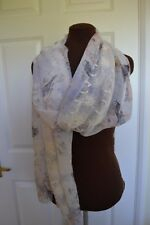 Ladies Lightweight Lace Panelled Scarf Shawl