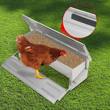 More details for 5kg automatic treadle chicken feeder poultry self opening ratproof outdoor metal