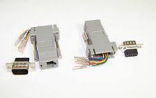New Micro Connectors (G06-104) Modular Adapter DB9 Male to RJ45