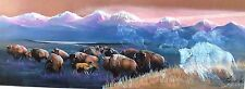 """Spirits of the Plain"" (Buffalo) by Carole Bourdo S&N Ltd Edition 16x34 Print"