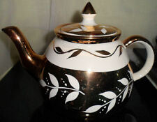 Ceramic Tea Pot Gibson Gold Leaf Collectible Coffee Staffordshire England W 169