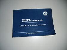 Guide Störungssuche Lancia beta Automatic 07/1979