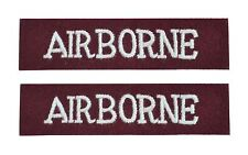 Airborne Shoulder Flashes - WW2 Repro Army Titles Badge Patch Sleeve Arm Uniform