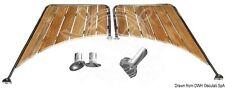 Osculati Stainless Steel & Iroko Platform for Round Stern Hull 650x470x950mm