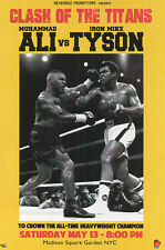 MUHAMMAD ALI VS MIKE TYSON CLASH OF THE TITANS POSTER NEW 24X36 FREE SHIPPING