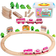 On Track Usa Motorized Toy Train Set for Kids and Toddlers, 40 Piece Happy Train