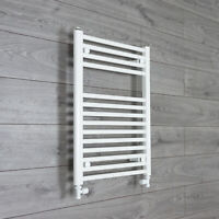 400 mm Wide 700 mm High Flat White Heated Towel Rail Radiator Bathroom Kitchen