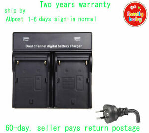 Dual Battery Charger for Sony NP-F960 NP-F970 L Series Camcorder LED Vedio Light