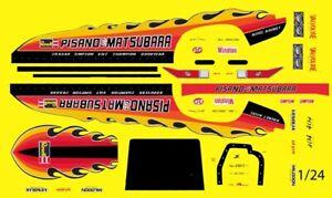 PISANO & MATSUBARA Monza NHRA DRAG Funny Car 1/24th - 1/25th Scale Decals