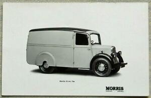 "MORRIS 10 cwt VAN Factory Black & White Postcard 5 ½""x 3 ½"" Undated"