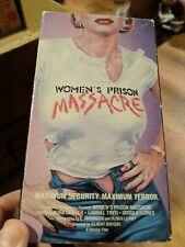 Women's Prison Massacre RARE HTF VESTRON VIDEO SLEAZY HORROR ACTION!!!