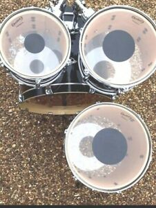 RockSolid Black Dot Drum Head Skin Tom Packs