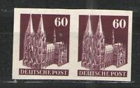 Germany - Deutsche Post 1950 Sc# 654/Mi# 93 IV WU MNH F - Scarce Imperf pair