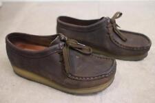 Clarks Originals Women's Brown Nubuck Wallabee Shoes SIZE 7M (sh710
