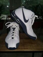 2008 NIKE SHOX Zoom Air Flight Elite Men White/Navy Basketball Shoes Size 13 US