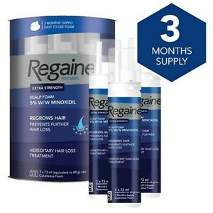 Regaine For Men Hair Regrowth Foam 3 x 73 ml - 3 Month Supply