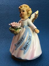 *Vintage* Happy Birthday Angel Music Box Figurine By Lefton Ec