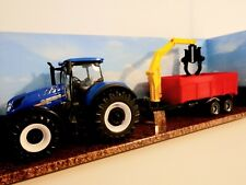New Holland Tractor & Combo Trailer T7.315 Diecast Metal 1:50 Scale Model Toy