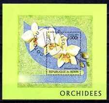 Fleurs - Orchidées Bénin (108) bloc oblitéré