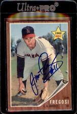 Jim Fregosi Los Angeles Angels 1962 Topps Signed Baseball Card #209 DECEASED