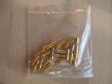 10 Paar (20 Stk) Goldstecker 3,5 mm - Gold Stecker - Goldkontaktstecker