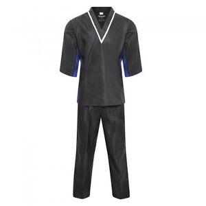 Elite Freestyle Uniform Black Demo Team Martial Arts Club Pull Over V Neck Suits