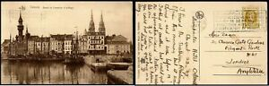 Belgium 1927 Ostende Postcard to London Horticulture Exposition Postal History