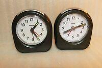 Sharp Model SPC844 Travel Alarm Clock-Excellent Condition Lot of two  Black