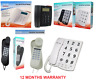 Tel-UK  Vienna  Corded Analogue Landline Telephone Caller ID Display wall Mounta
