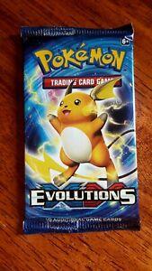 1x Pokemon XY Evolutions Booster Pack- Genuine & Sealed- Raichu- TCG