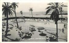 RPPC  HOTEL del CORONADO, California CA   SWIMMING POOL  1940  Postcard