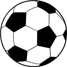 CALCIO Palla Pallone da Calcio Logo Sticker Adesivo vinile GRAFICA ETICHETTA NERO v3
