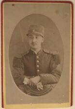 Officier Militaire Uniforme Bourgoin Isère Cdv France Photo Vintage Albumine