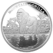 Niue - 2 Dollar 2015 - Bedrohte Tierarten (4.) - Berggorilla - 1 Oz Silber PP