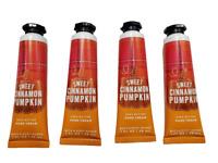 Bath and Body Works Sweet Cinnamon Pumpkin Hand Cream Lotion, (Set of 4)