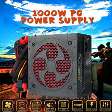 1000W 12V Silent PC Power Supply Gaming PCI SATA ATX 2.31 LED Fan Computer New