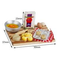 1:12 Scale Dollhouse Miniature Kitchen Food Eggs Milk Bread & Milk Bottles