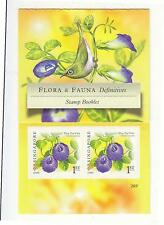SINGAPORE 2009 FLOWERS BLUE PEA VINE  2ND REPRINT 2009C BOOKLET OF 10 STAMPS MNH