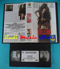 VHS film RIVELAZIONI 1995 Michael Douglas Demi Moore WARNER BROS (F57*) no dvd