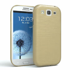Funda protectora para Samsung Galaxy s3/Neo brushed cover móvil, funda de oro