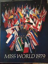 1979 MISS WORLD  PROGRAM BOOK - LAST ONE