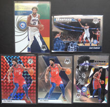 2019-20 mosaic joel embiid Lot Of 5 Cards Montage, Red, Stare Masters