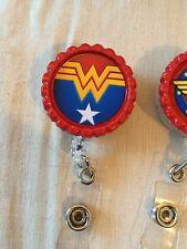 Wonder Woman #7 Retractable Reel ID Badge Holder, Lanyard Hook