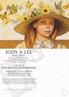 PAINTING THE ATTRACTION OF FLOWERS BY JODY A LEE ADVERTISING COLOUR POSTCARD