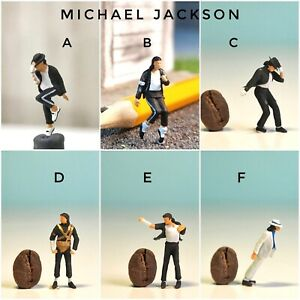 Miniature Figure Michael Jackson Moon Walker (pick one) H0 Scale 1/87 or 1/64