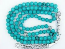 6mm x99 TURQUOISE Firoza ISLAMIC PRAYER BEADS TASBIH MASBAHA QURAN GIFT
