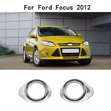 Fit Ford Focus 2012-2013 Chrome Front Fog Lights Lamps Cover Ring Bezels Trim