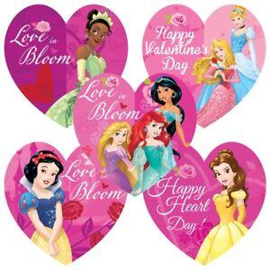 25 Disney Princess Valentine's Day Stickers Party Favors Belle Ariel Cinderella