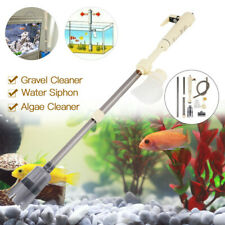 Aquarium Vacuum Cleaner Fish Tank Gravel Sand Pump Water Change Filter Battery